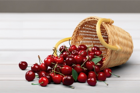 cereza: Cereza Basket. Foto de archivo