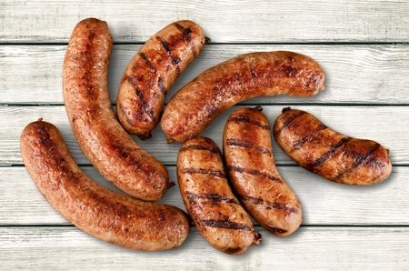 saucisse: Saucisses. Banque d'images