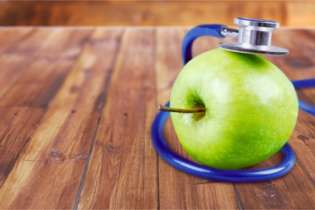 vertical wellness: Apple. Stock Photo