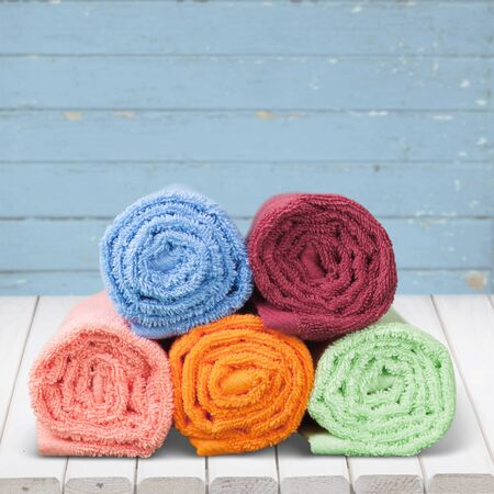 multi colors: Towels. Stock Photo