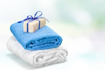 grooming product: Towels. Stock Photo
