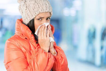 raffreddore: Raffreddore e influenza. Archivio Fotografico