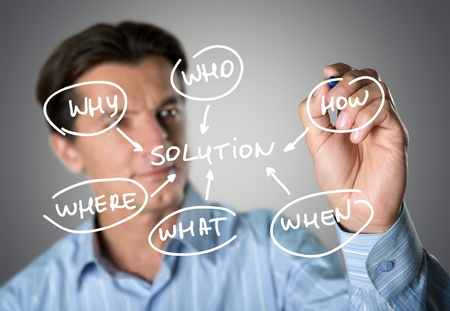 solution: Finding Solution. Stock Photo