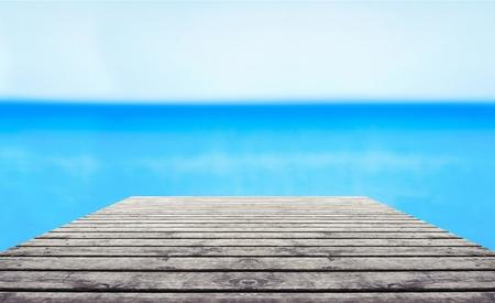 wooden dock: Wooden dock.