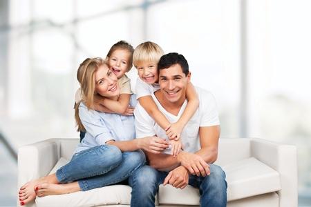 femmes souriantes: Photo de famille.
