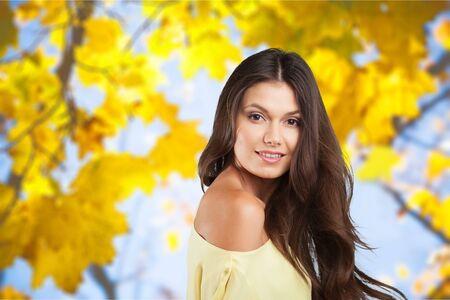 Autumn woman. Stock Photo