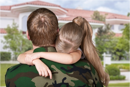 female soldier: Military Family.