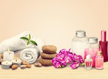 spa flower: Spa salon.