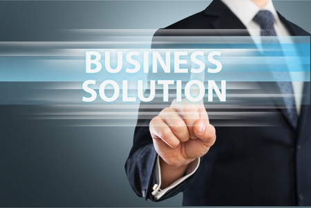 solution: Business solution. Stock Photo