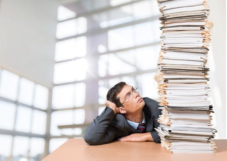 office physical pressure paper: Document Stack.