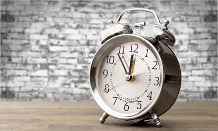clock: Alarm clock.