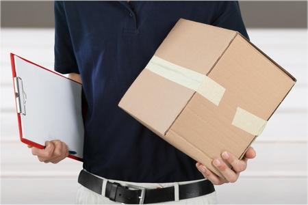 dropoff: Delivering. Stock Photo