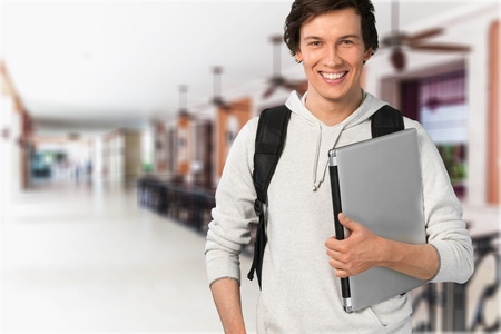 man studying: Student. Stock Photo