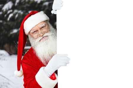 white hat: Santa Claus. Stock Photo