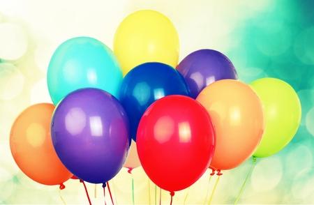 축하: 풍선. 스톡 콘텐츠