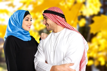 mid adult couples: Muslims.