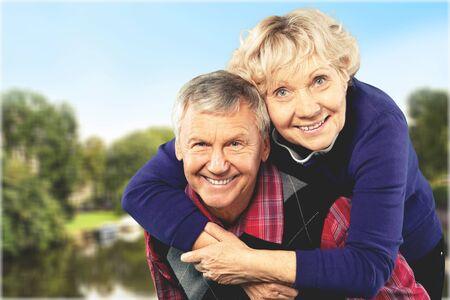 80 plus years: Senior Adults. Stock Photo