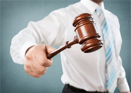 information technology law: Auction. Stock Photo