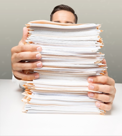 office physical pressure paper: Paper Stack.