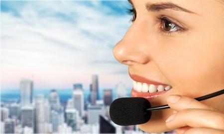 customer: Customer Service Representative. Stock Photo