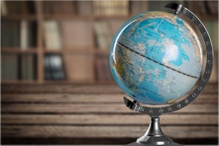 travel map: Globe. Stock Photo
