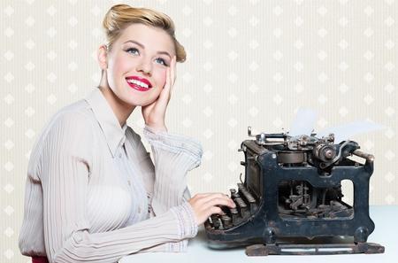 typist: Retro secretary.