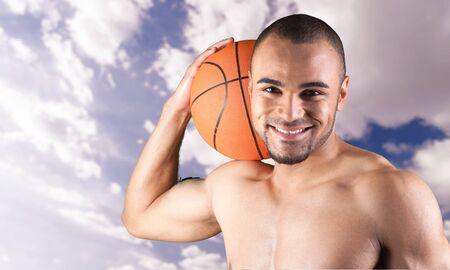 southern european descent: Basketball. Stock Photo