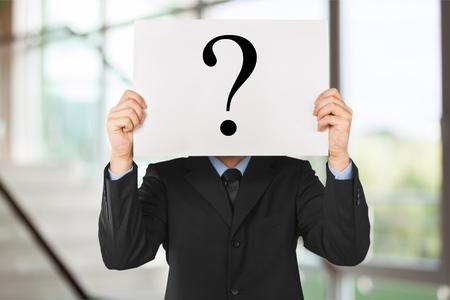 signo de pregunta: Signo de interrogacion. Foto de archivo
