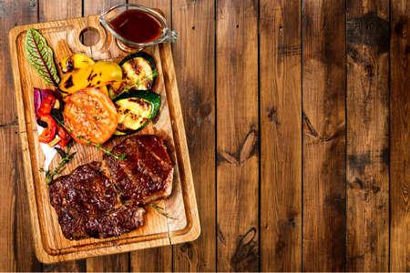 up view: Steak. Stock Photo
