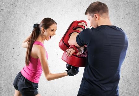 combative sport: Boxing.
