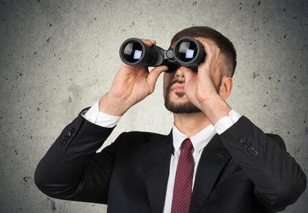 hard look: Man search.