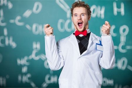 mad scientist: Mad scientist. Stock Photo