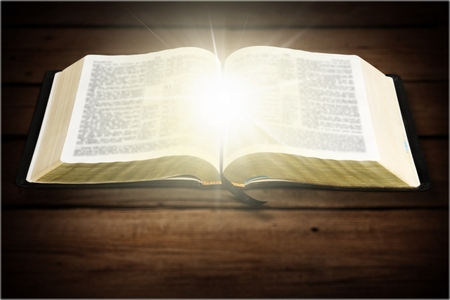 bible ten commandments: Bible. Stock Photo
