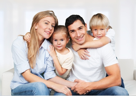 rodina: Rodičovství. Reklamní fotografie