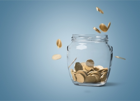 money jar: Money jar. Stock Photo