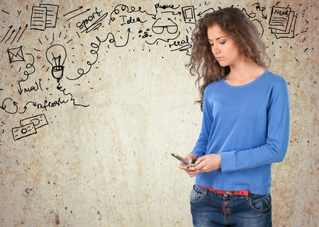 text messaging: Text Messaging. Stock Photo