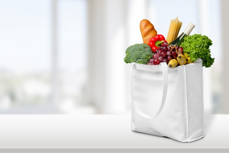 grocery: Bag. Stock Photo