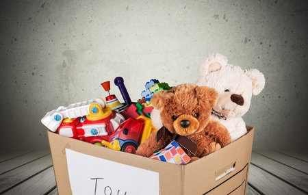 donating: Toys. Stock Photo