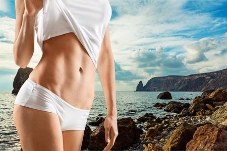 white panties: Slimming.