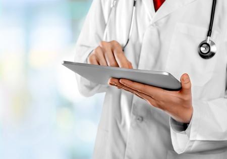 electronic organizer: Medical record. Stock Photo