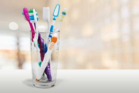 toothbrushes: Toothbrushes. Stock Photo