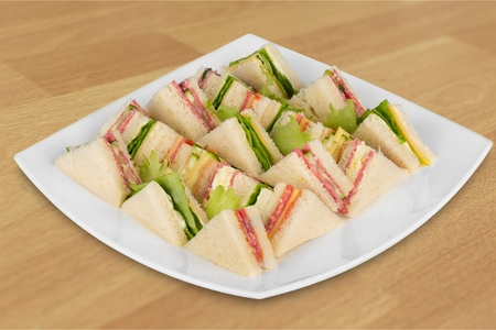 party tray: Sandwich. Stock Photo