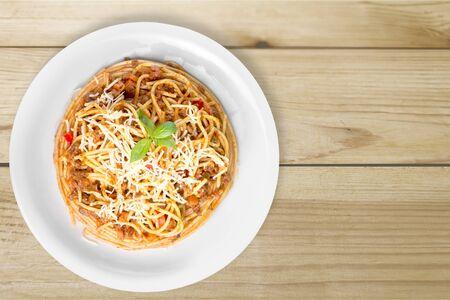 eating dinner: Spaghetti.