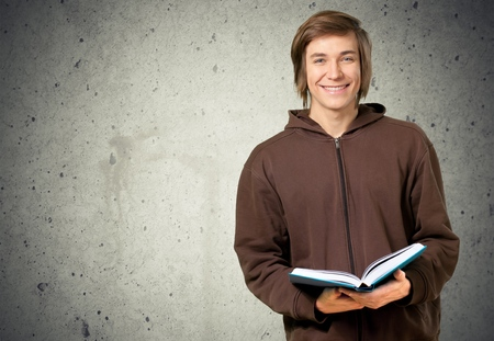 white face: Student. Stock Photo