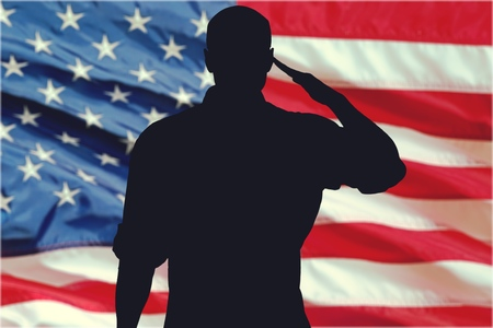 male silhouette: Armed Forces.