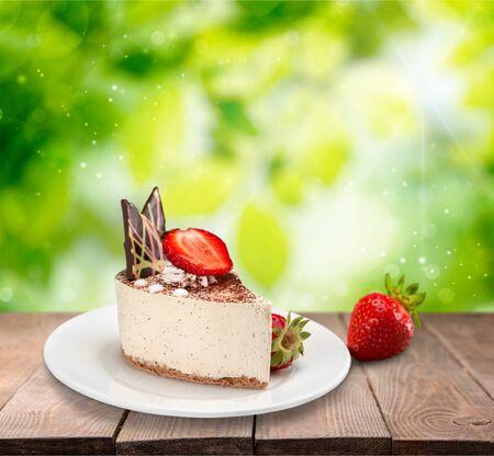 cake plate: Cake. Stock Photo