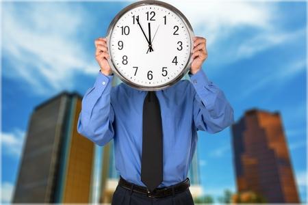 file clerk: Clock.