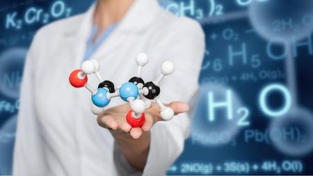 molecules: Medicine. Stock Photo