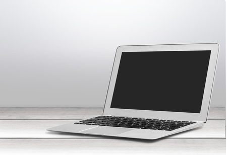 macbook: Laptop. Stock Photo