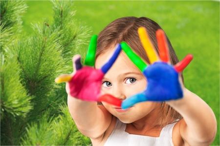kids painted hands: Kids.